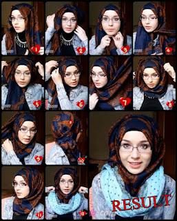 Kreasi Hijab Modis Untuk Wanita Berkacamata