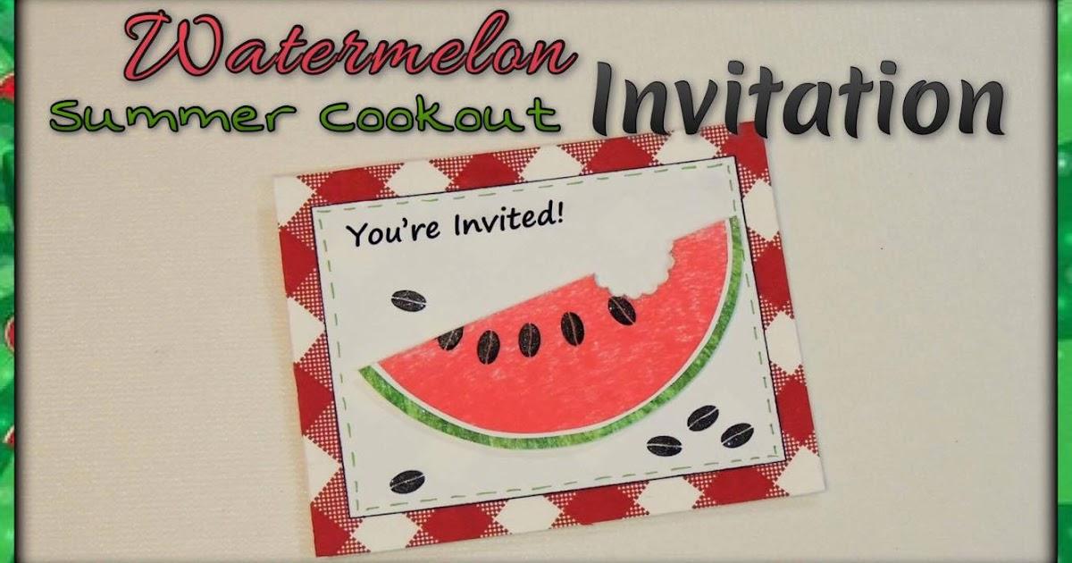 craftie kaleidoscope watermelon summer cookout invitation