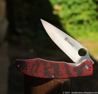 Ganzo G732 dyed G10 scales mod