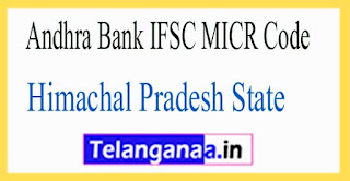 Andhra Bank IFSC MICR Code Himachal Pradesh State