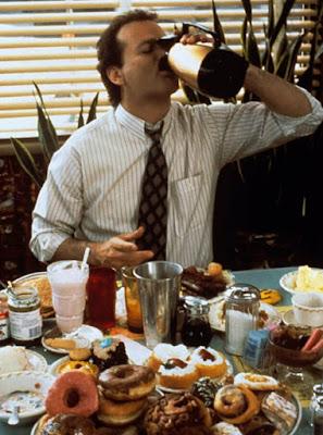 O Bill Murray παραδομένος στις απολαύσεις της Ημέρας της Μαρμότας