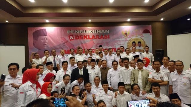 Purnawirawan Pejuang Indonesia Raya Deklarasi Dukung Prabowo-Sandi