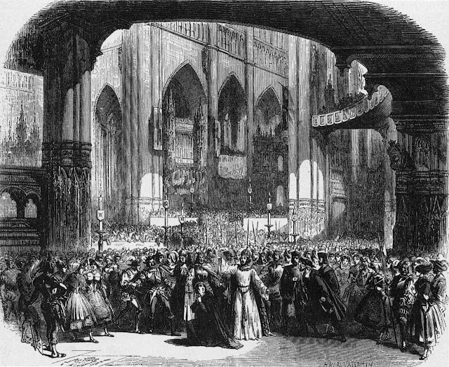 Meyerbeer: Le prophète – Act 4, scene 2, of the original production, set design by Charles-Antoine Cambon and Joseph Thierry