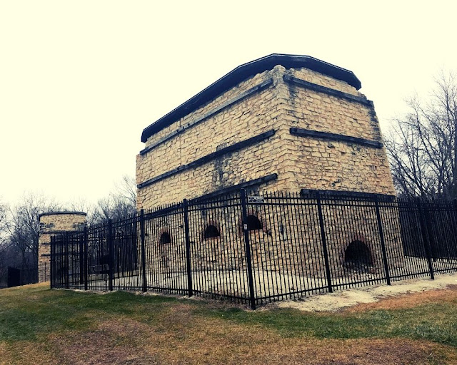 Garwin Mace Lime Kilns in Menomonee Falls are remnants of a limestone quarry.