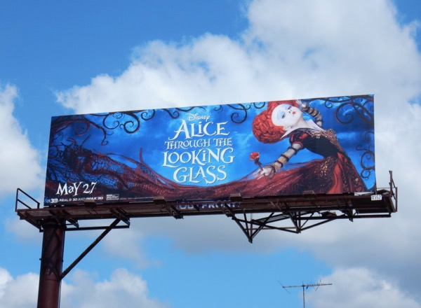 Alice Through the Looking Glass movie billboard