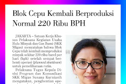 Cepu block returns to normal production at 220 thousand BPD