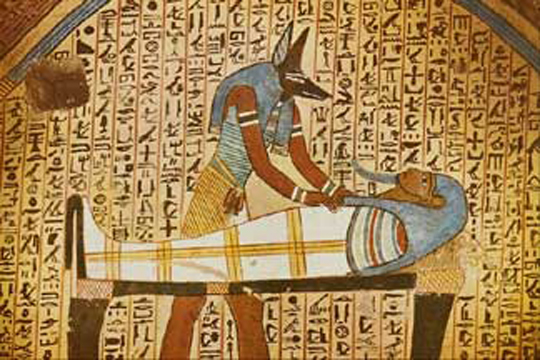 Anubis with Mummy