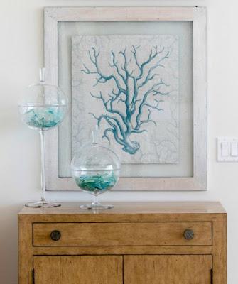 Ball Glass Jars with Seaglass