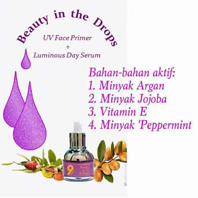 beauty in the drops , review produk beauty in the drop , kelebihan beauty in the drop , tips kecantikkan kulit , primer makeup ,9 herbs health & beauty