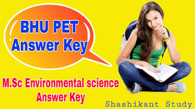 BHU-M.Sc-Environmental-science-Answer-Key