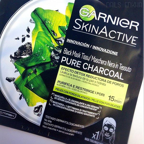 Rewiew Black Mask Tissu Garnier SkinActive