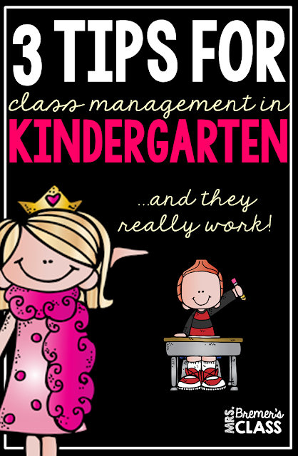 3 Tips for Class Management in Kindergarten {that really work!}