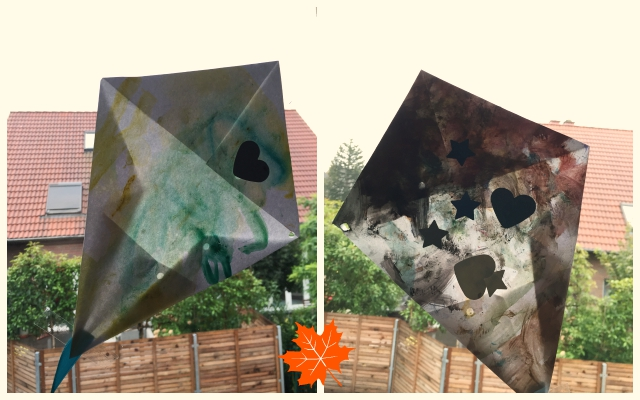 Kugelfisch - Drachen aus Papier basteln, Din-A4