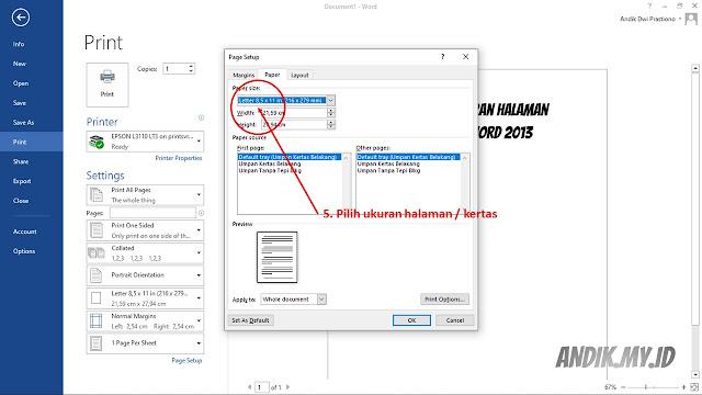 ukuran halaman, ukuran kertas, tutorial, microsoft office, microsoft word