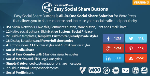Free Download Easy Social Share Buttons V3.2.5 for WordPress Plugin