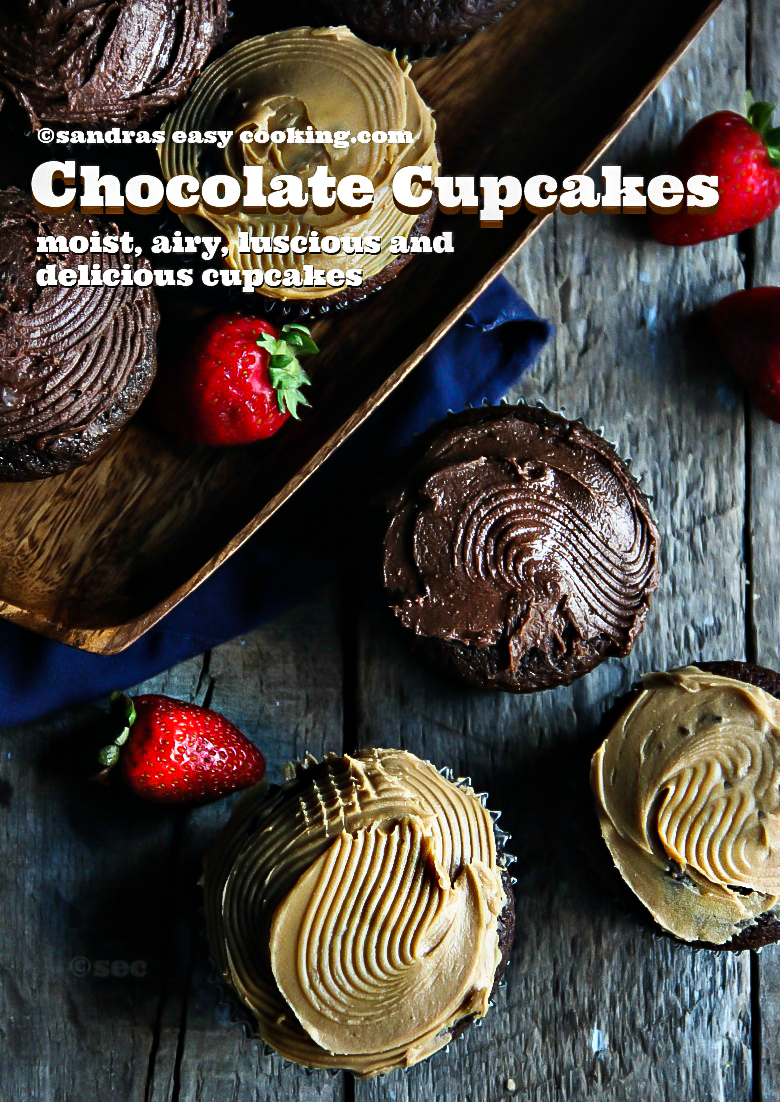 Chocolate Cupcakes #recipes #cooking #cookingwithkids