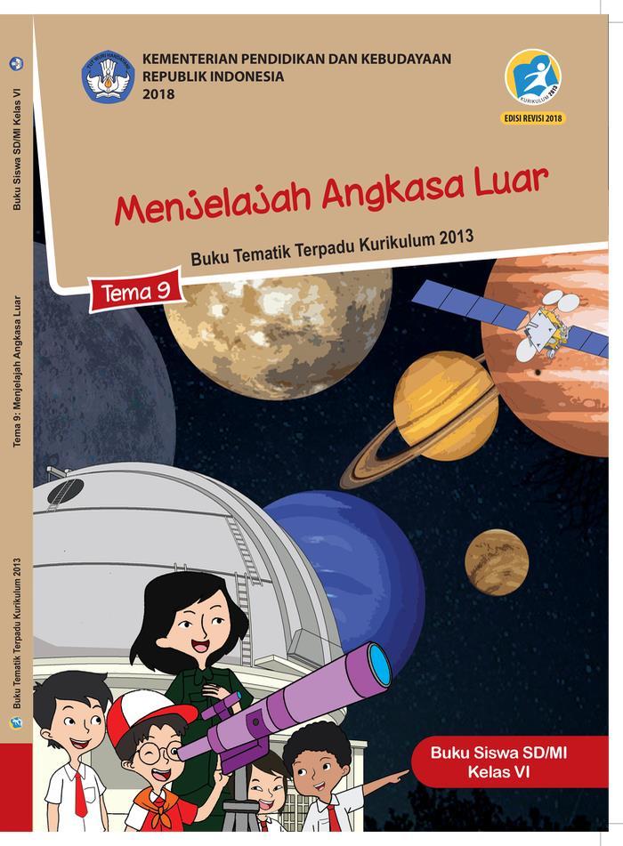 Buku Siswa Tematik SD Kelas VI Tema 9 Menjelajah Angkasa Luar