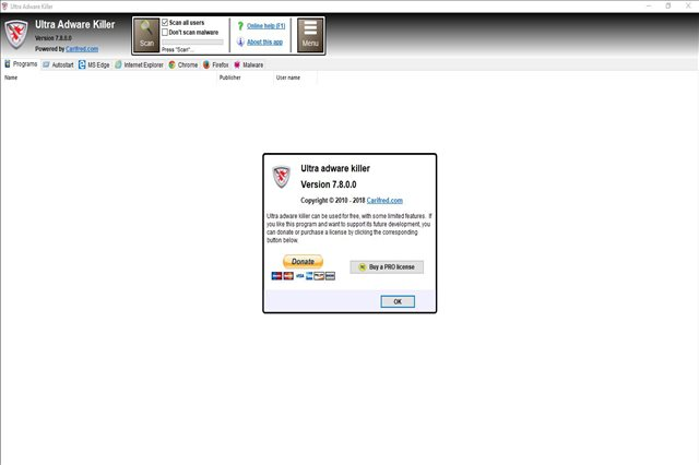 تنزيل برنامج إلترا أدواري كيلر لحذف الأدواري على نظام تشغيل الويندوز