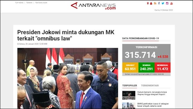 Menolak Lupa! Jokowi Pencetus Omnibus Law UU Cipta Kerja. Ini Buktinya!