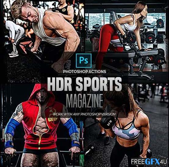 HDR Sports Magazine - Photoshop Actions