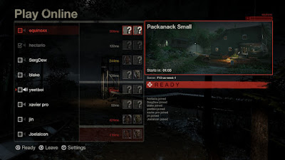 Friday The 13th: The Game - Online Play Screen