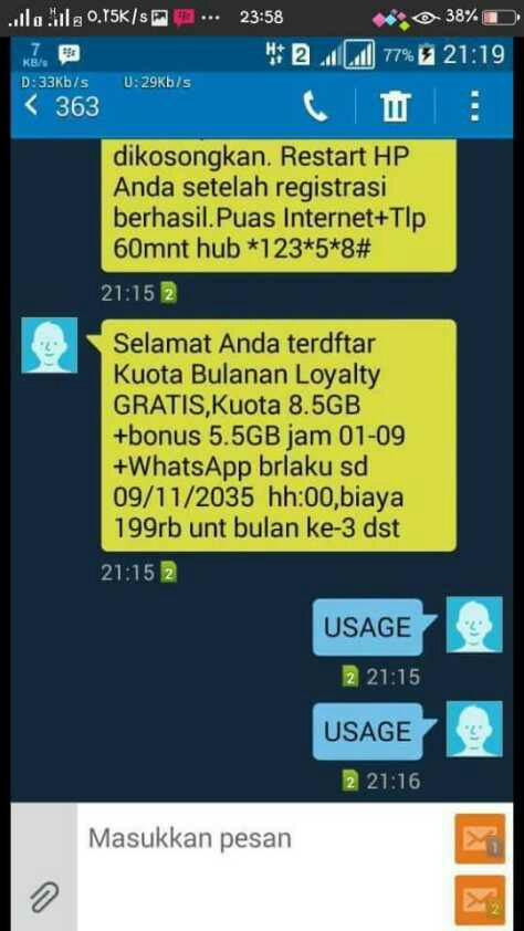 Info resmi paket internet kuota bulanan loyalty Indosat Ooredoo
