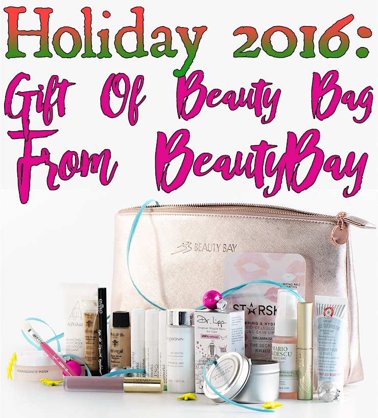 Gift Of Beauty Bag from Beauty Bay for Holiday 2016