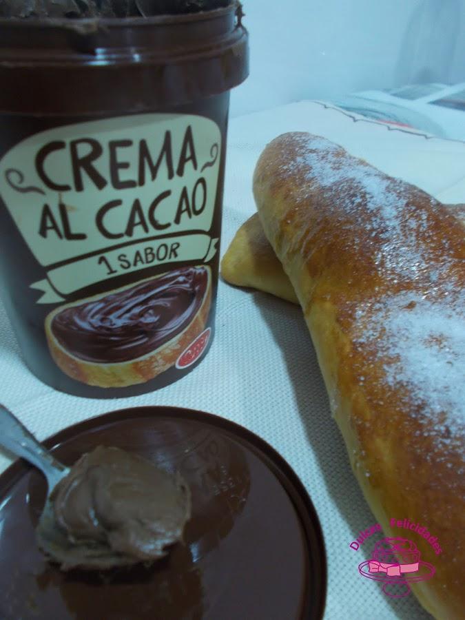 Llonguets de Pasqua rellenos de crema de cacao