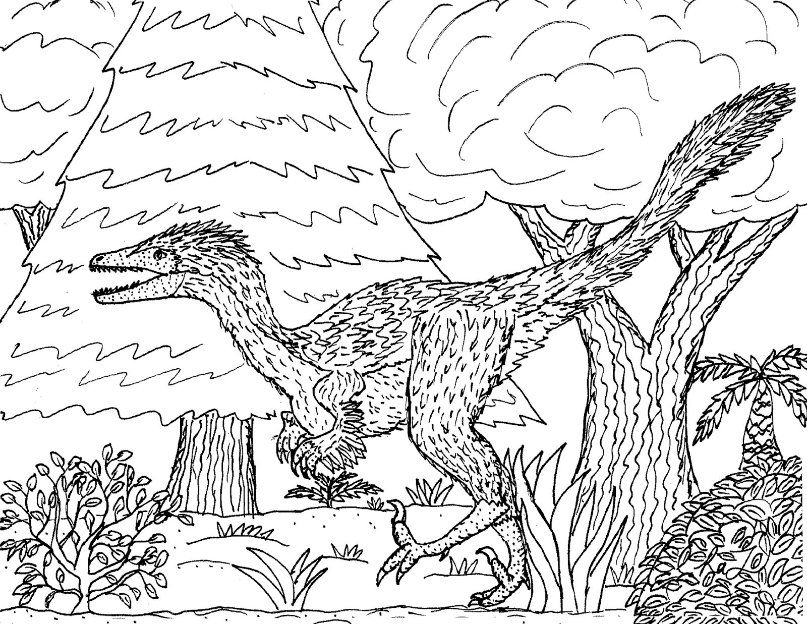 Troodon Coloring Page Az Pages Sketch Coloring Page