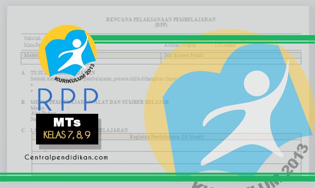 RPP 1 Lembar MTs Kurikulum 2013 Revisi 2021/2022, Lengkap