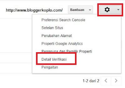 Cara mendaftar dan Verifikasi Blog di Google Webmaster Tools (Search Console)