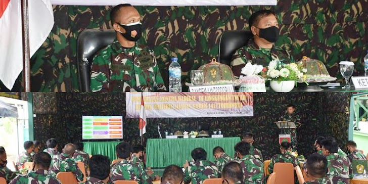 Kasirem Kasrem 141/Tp, Beri Pembekalan Kontra Radikal Pada Prajurit TNI AD