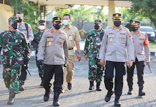 Kapolda Jateng dan Pangdam IV Diponegoro Terapkan Managemen Kontijensi Penanganan Covid 19