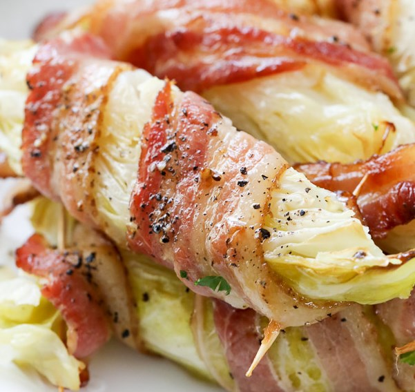 Bacon Wrapped Cabbage (keto/low carb) #diet #healthy