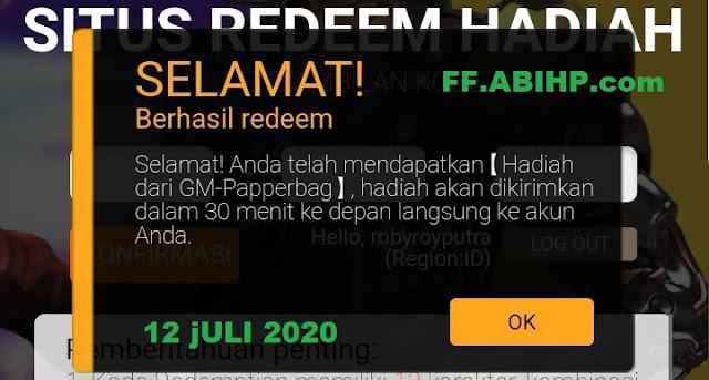 GM Papperbag Kode Redeem Juli 2020