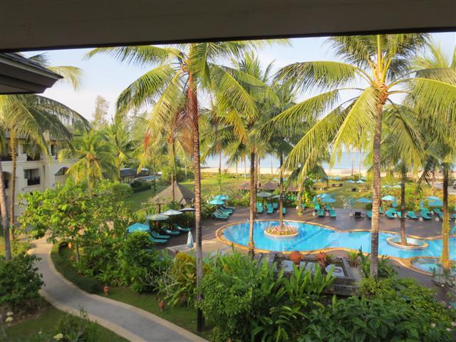 Blick aus unserem Hotelzimmer im Khao Lak Orchid Beach Resort (C) Kundenfoto