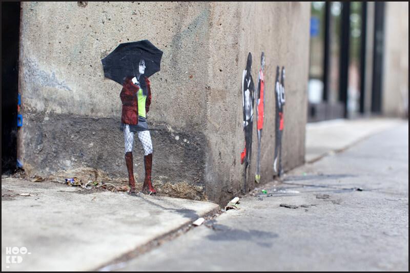 Miniature London Street Art by Mexican artist Pablo Delgado