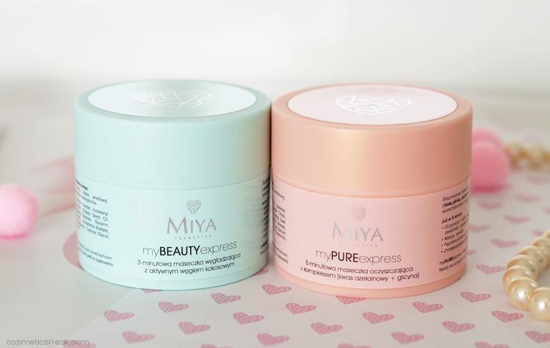 myBEAUTYexpress i myPUREexpress - 3-5 minutowe maseczki do twarzy od Miya Cosmetics [NOWOŚĆ]
