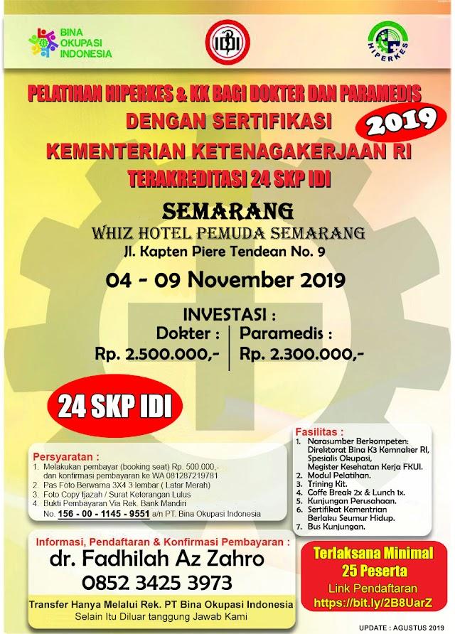 Pelatihan Hiperkes Semarang 2019 Untuk Dokter dan Paramedis