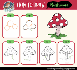 mushroom draw easy drawing drawings step cartoon trippy tutorial beginners flower super steps instructions tutorials fairy