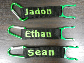 Strap With name embroidery in green