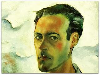 Iberê Camargo - Autorretrato (1943) - óleo sobre tela - detalhe