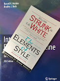 The Elements of Style, by Strunk and White, superimposed on Intermediate Physics for Medicine and Biology.