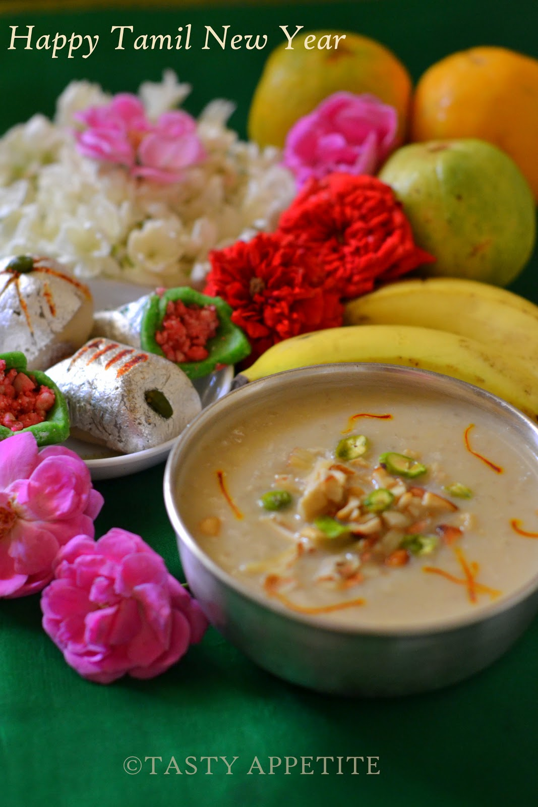 happy tamil new year vishu new year special recipes coconut milk payasam