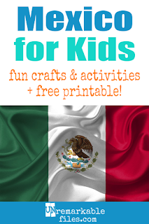 Learning about Mexico is fun and hands-on with these free crafts, ideas, and activities for kids! #Mexico #spanish #educational
