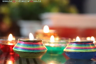 coloured diyas pictures 2020