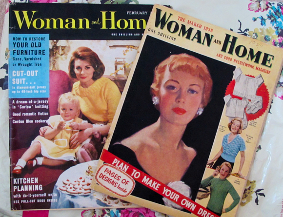 Woman and Home Magazine February 1962 (left) and March 1956 (right)