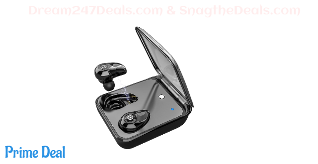 50% off Wireless Earphones Bluetooth Earbuds Headphones with 3D HiFi Sound Dual Built-in Mic Auto Pairing 72H Cycle Playtime Bluetooth 5.0 Cordless Earbuds for iPhone Android with Charging Case