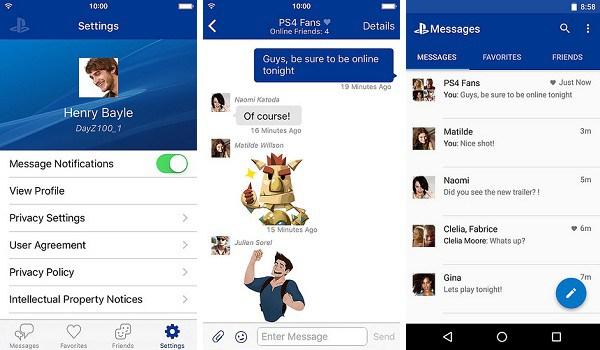PS4 Messenger app