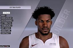 NBA 2K20 Jimmy Butler Cyberface by BLY converted from NBA 2K21 by Shuajota